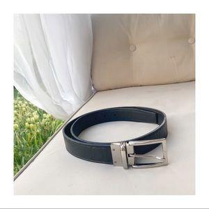 SALE 🔥 COACH Black Embossed Harness Buckle Belt